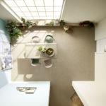 Raum von oben mit beigen Teppichboden Vorwerk Essential 1008