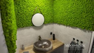 Moos•Moos Manufaktur Wandverkleidung im Bad aus Islandmoos